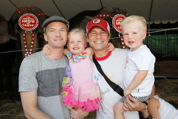 Neil Patrick Harris David Burtka kids at circus