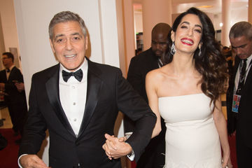 George Clooney and Amal Clooney attend the Cesar Film Awards 2017