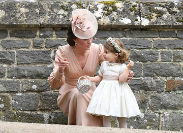 Princess Charlotte and Duchess Catherine at Pippa Middleton's wedding May 20, 2017