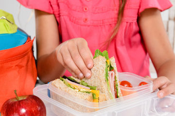 Kid Packing School Lunch