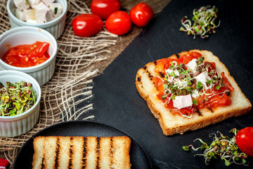 grilled toasted bread