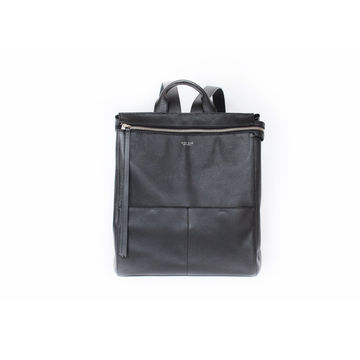 Black leather harper backpack