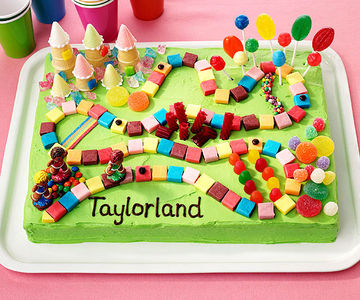 Game board birthday cake