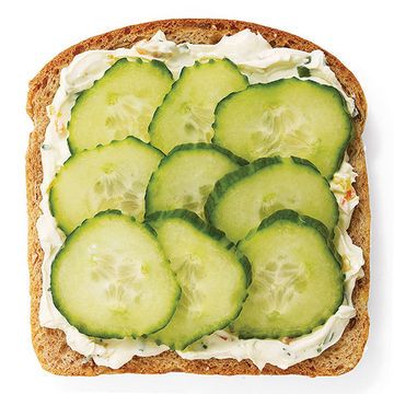 Veggie cream cheese and cucumber sandwich