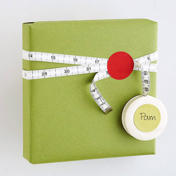 Measuring tape gift wrap