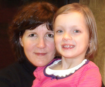 Kay Lockwood and daughter Katherine, 7