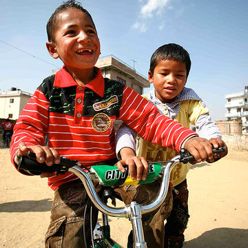 Children's Charity Donates Bicycles