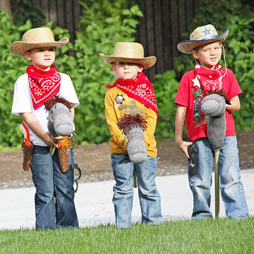 Kids Dressed-Up as Cowboys
