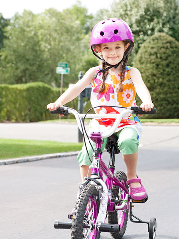 Child riding bike
