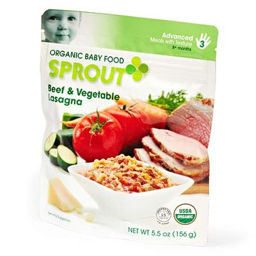 Sprout Organic Baby Food; Beef & Vegetable Lasagna