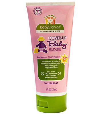 BabyGanics Cover-Up Baby Sunscreen for Face and Body SPF 50 Plus