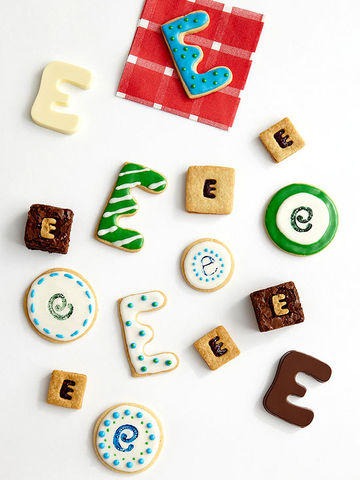 """E"" cookies and candies"