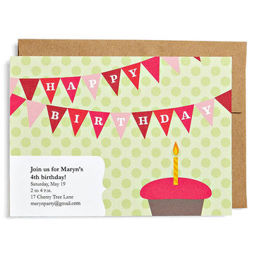 Downloadable invites cupcake birthday party invitation filmwisefo