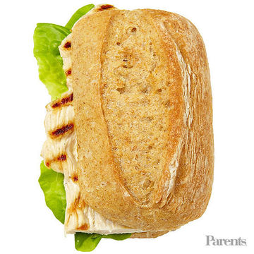 Grilled-chicken sandwich with mayo