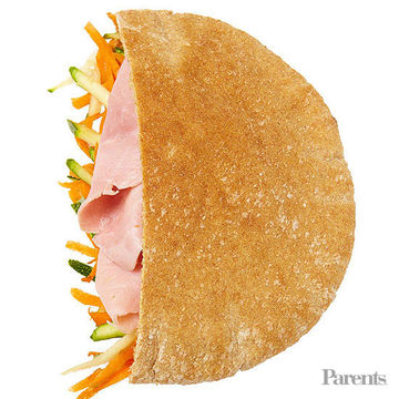 ham and veggies pita