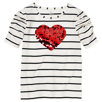 Sequined Heart Tee
