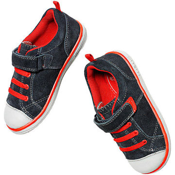 Blue Flex Shoes with Red Laces