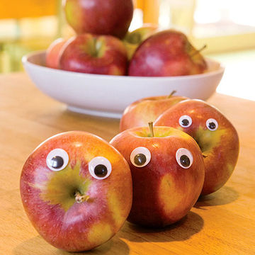 Apples with eyes