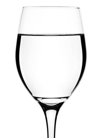 wine glass with water