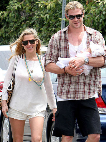 Chris Hemsworth, Elsa Pataky and baby India Rose