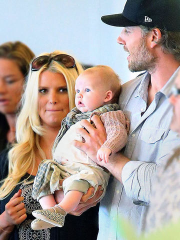 Jessica Simpson, Eric Johnson with baby Maxwell