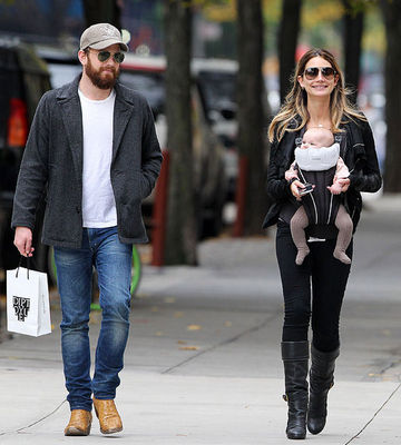 Caleb Followill, Lily Aldridge and baby Dixie Pearl