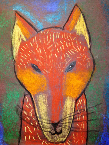 """Pastel Fox"" drawing by Owen"