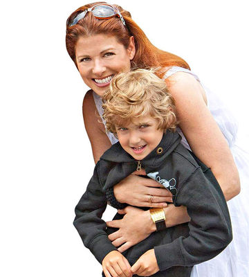 Debra Messing and son