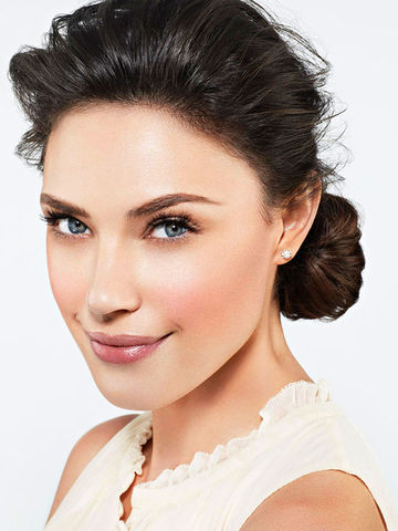 Woman with hair in bun
