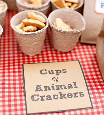 animal crackers in cups