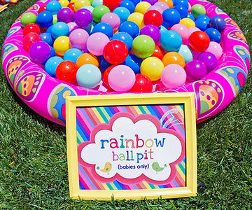 Rainbow ball pit
