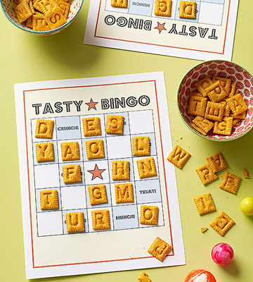 abc snacks, bingo game