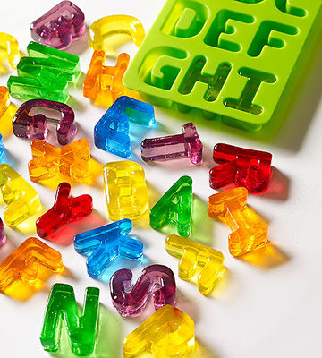 Jell-O letters