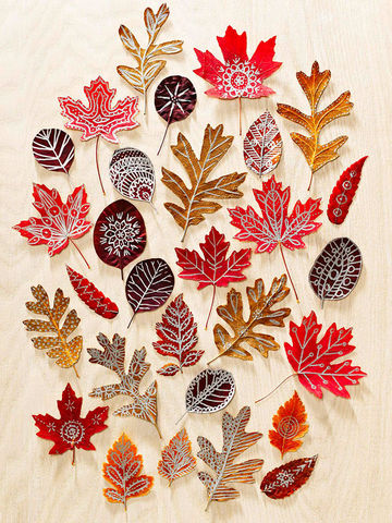 pinterest fall crafts with leaves 2694