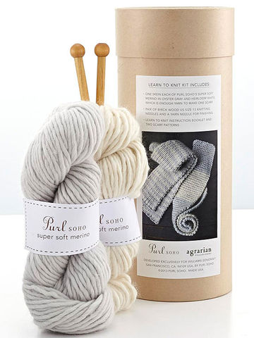 The Purl Soho Learn to Knit Scarf Kit