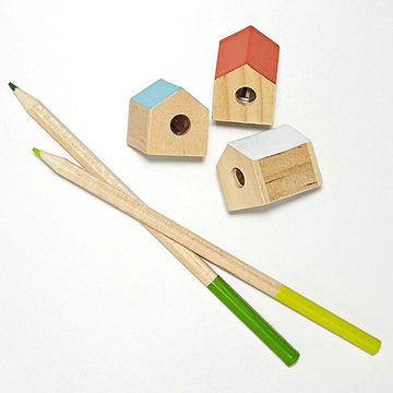 House-shaped pencil sharpeners