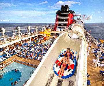 Cruises rock the boat with deck parties, slides, and adult lounges.
