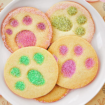 Bunny paw print cookies
