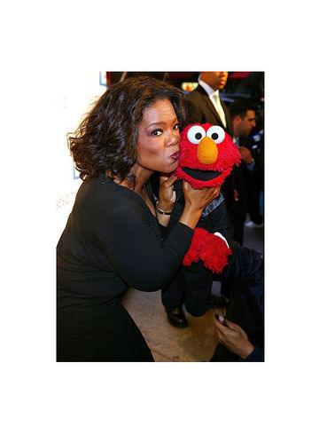 Elmo with Oprah