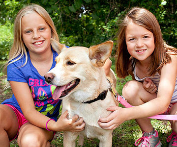 Girls with Dog – Animal Humane Society