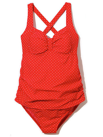 Motherhood Maternity's red-hot polka-dot swimsuit