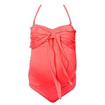 ASOS bright coral one-piece