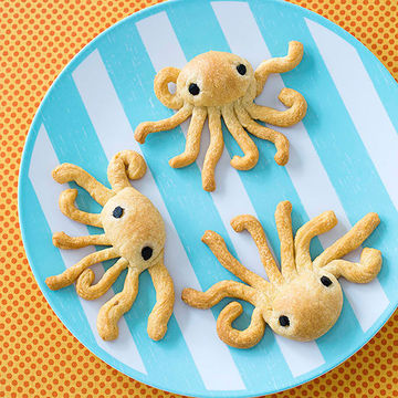 Octopus shaped rolls