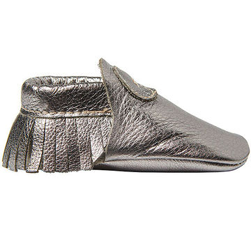 Silver Moccasin Baby shoes