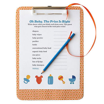 The Price Is Right Game for Baby Shower