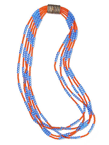 Blue and orange necklace