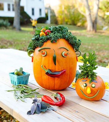 Pumpkins with veggies