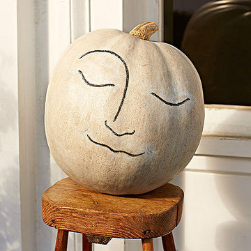 Pumpkin with moon face
