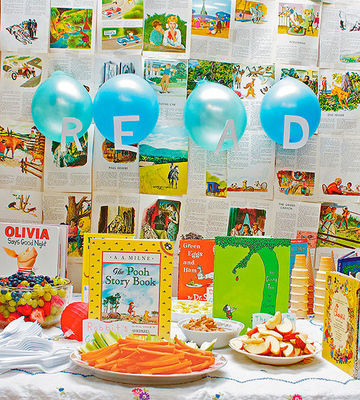 Storybook table and snacks