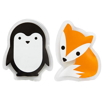 Penguin and fox hot/cold pads